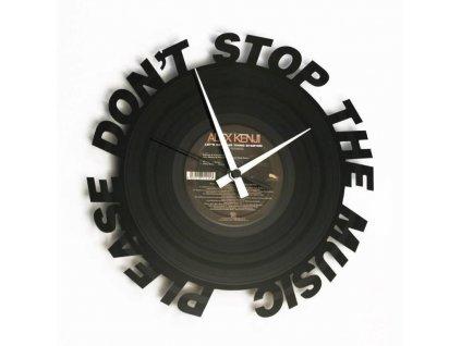 Designové nástěnné hodiny 084 Dont Stop Music 30cm