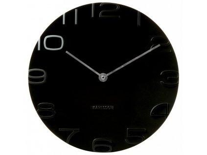 Designové nástěnné hodiny 42 cm - 5311BK