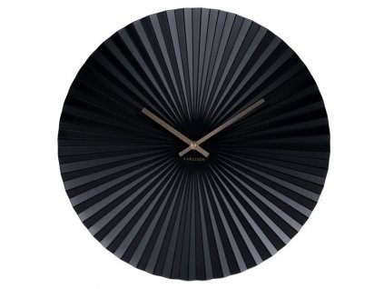 Designové nástěnné hodiny 5658BK 50cm