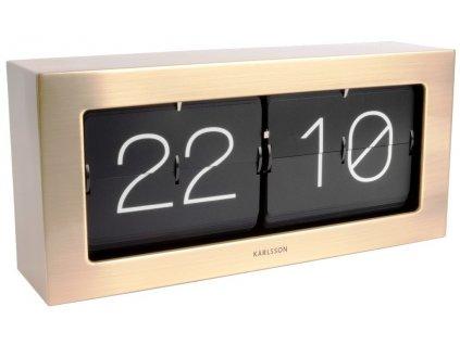 Designové nástěnné/stolní překlápěcí hodiny 5642GD 37cm