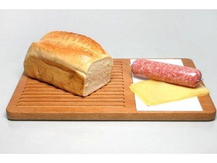 Dřevěné servírovací prkénko na chléb