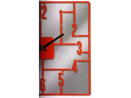Luxusní zrcadlové hodiny 41 cm červené - 270