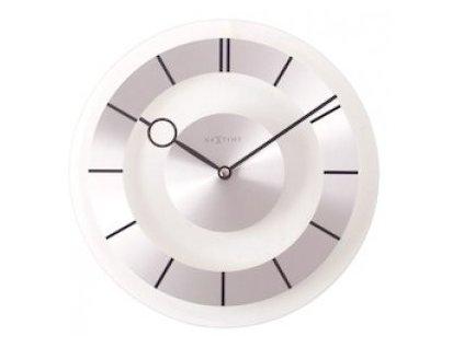 Skleněné nástěnné hodiny 31 cm RETRO