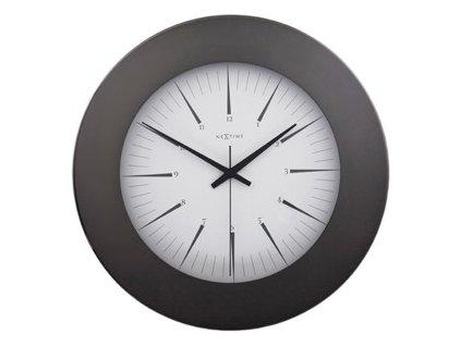 Skleněné nástěnné hodiny 34 cm COLT