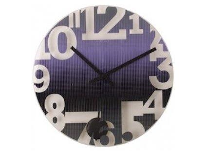 Sklěněné nástěnné hodiny 43 cm SWING