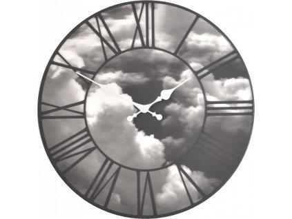 Nástěnné 3D hodiny 39 cm Mraky - LA VILLE