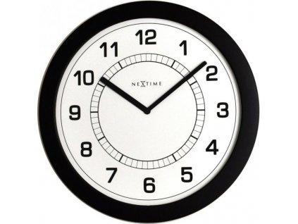 Nástěnné hodiny 28 cm SUPER SLIM -3045zw