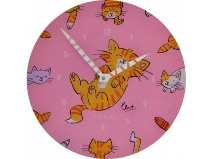 Nástěnné hodiny TICKLE TUMMY 30 cm