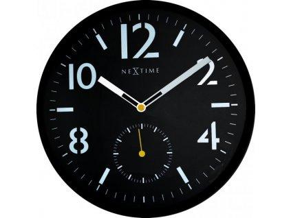 Nástěnné hodiny 32 cm SERIOUS BLACK 1
