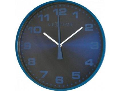 Nástěnné hodiny 35 cm DASH BLUE