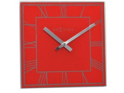 Nástěnné/stolní hodiny 20 x 20 cm SQUARE RED