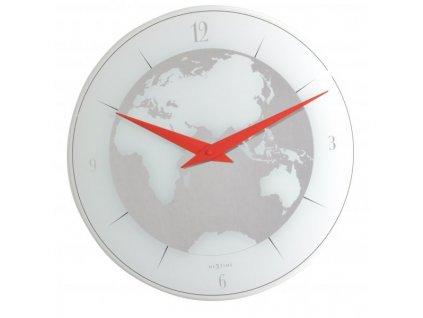 Sklěněné nástěnné hodiny 43 cm ATLAS
