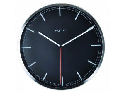 Nástěnné hodiny 35 cm COMPANY BLACK STRIPE