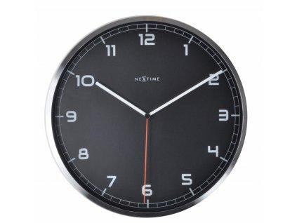 Nástěnné hodiny 35 cm COMPANY BLACK NUMBER