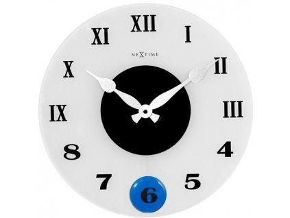 Designové nástěnné kyvadlové hodiny 8635 Milano Color 35cm