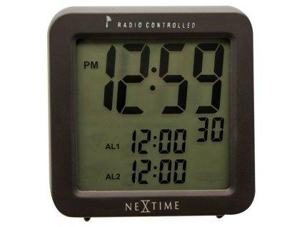Designové stolní digitální hodiny DCF 5201zw řízené signálem Square Alarm 10cm