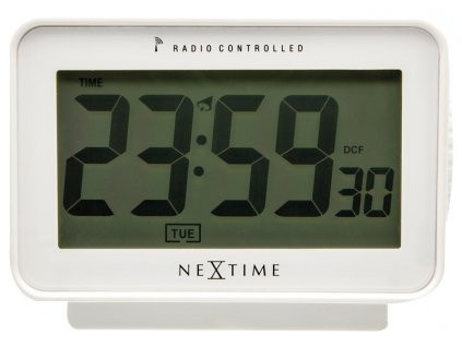 Designové stolní digitální hodiny DCF 5202wi řízené signálem Easy Alarm 13cm