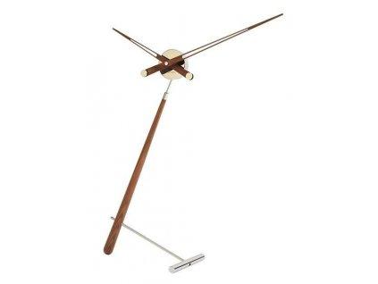 Designové stolní hodiny Puntero Walnut N 94cm