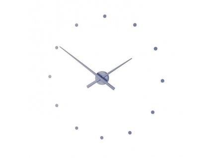 Designové nástěnné hodiny OJ ocelově modré 50cm