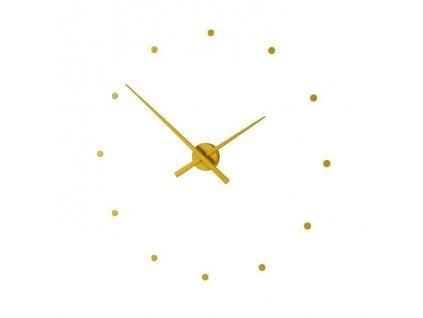 Designové nástěnné hodiny OJ hořčicové 50cm