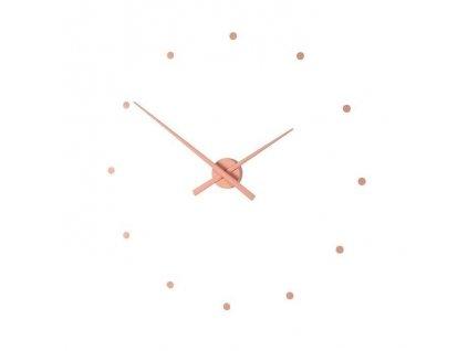 Designové nástěnné hodiny OJ starorůžové 50cm
