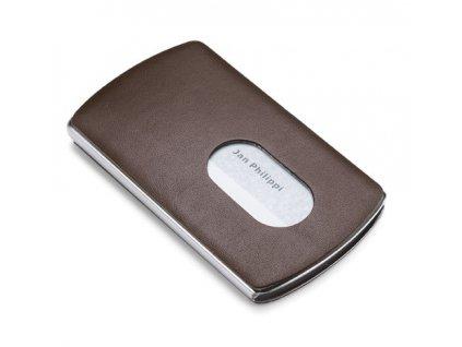 Zásobník na platební karty hnědý - Nic P120033