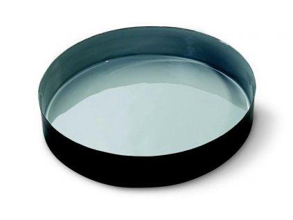 Miska barevná 23 cm, šedá