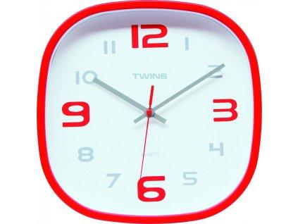 Nástěnné designové hodiny 10513 red
