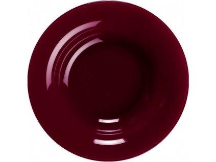 Skleněný talíř na polévku barevný Aubergine 52