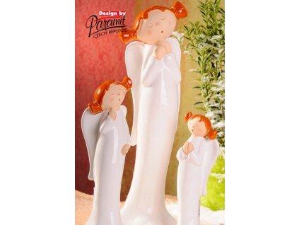 Anděl culíkatý Lili 28 cm - Paramit - 4107-28
