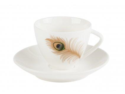 Šálek na kávu 150 ml s podšálkem - PAVONE - by inspire - 8138-00-40