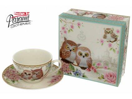 Owls šálek s podšálkem 200 ml H56 - Paramit - H56