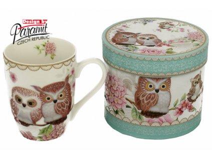 Owls porcelánový hrnek 300 ml Paramit H54