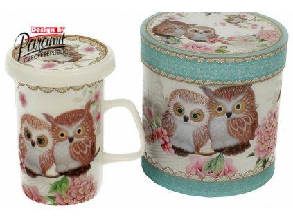 Owls hrnek se sítkem a víčkem 300 ml Paramit H55