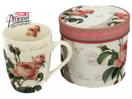 Pink Rose porcelánový hrnek 300 ml H51