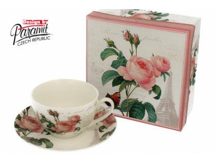 Pink Rose šálek s podšálkem 200 ml Paramit H53