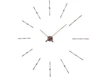 Designové nástěnné hodiny Merlin Walnut Graphite 125cm