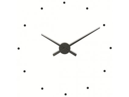 Designové nástěnné hodiny OJ černé 50cm