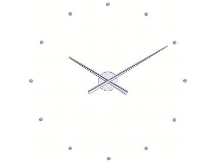 Designové nástěnné hodiny OJ stříbrné 50cm