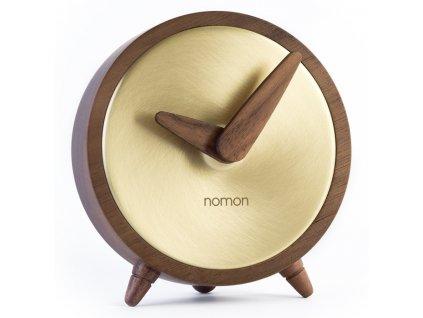 Designové stolní hodiny Atomo Gold 10cm