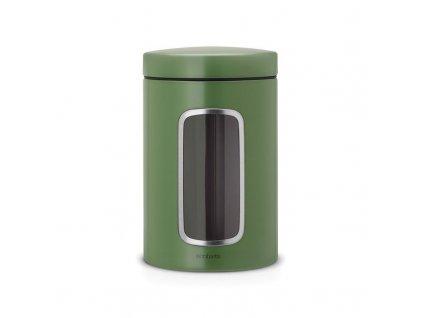 Dóza 1,4 l s okénkem - mechově zelená