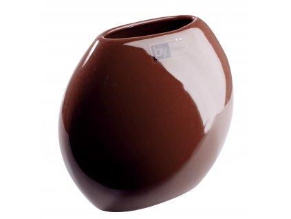 Váza Even 16,5x8,5x15 cm - hnědá