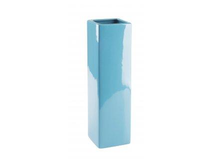 Váza Quadro 8x29cm - tyrkysová