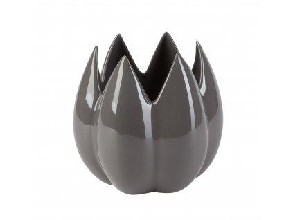 Bud - váza/květináč 20x20x19 cm - šedá
