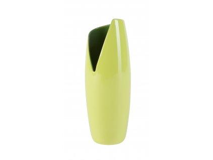 Váza Banana 10x10x27 cm - světle zelená