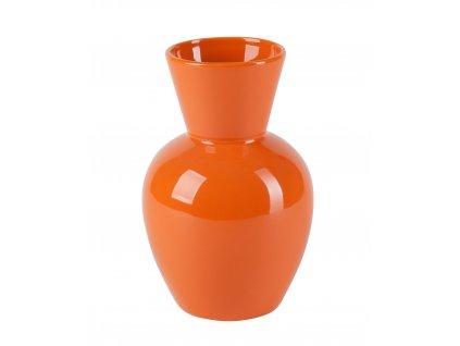Váza Rotund 9x15x20 cm - oranžová