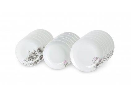 Jídelní souprava 18 ks z kolekce porcelánu ROSE WHITE od by isnspire.
