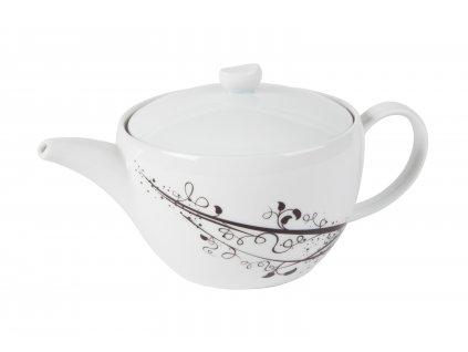 Konvice na čaj 1,3 l z kolekce porcelánu BLACK od by inspire 7400-00-02