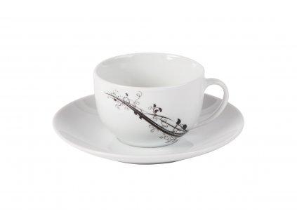Presso šálek s podšálkem 150 ml z kolekce porcelánu BAROKO od by inspire 7686-00-02