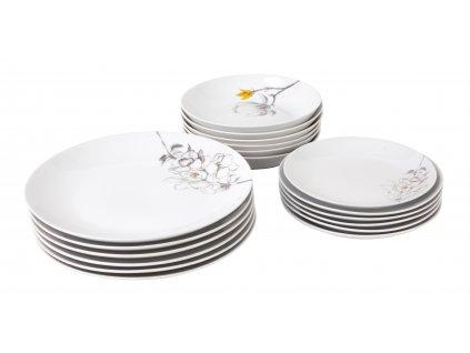 Jídelní souprava 18 ks z kolekce porcelánu TWIG od by inspire.